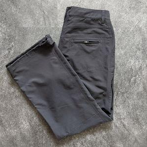 MEC grey straitleg hiking pants size 12 short